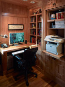 image install new home office, build office in home, atlanta customer
