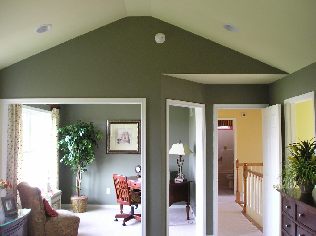interior painting service, staining and sheetrock installation project in atlanta client residence